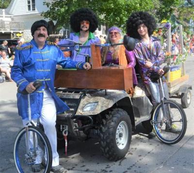 Rockin' Ruhf family rolls in parade