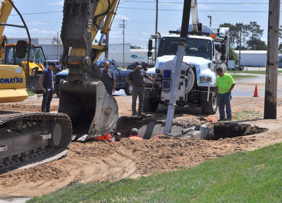 Cause of water main break undetermined at this time