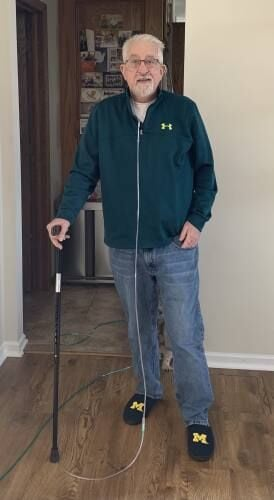 Former McBain principal making big strides in recovery after nearly losing his life to COVID-19