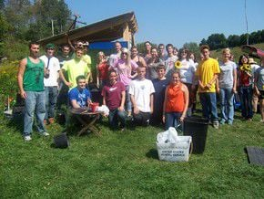 LSC Students Volunteer At Local Community Farm
