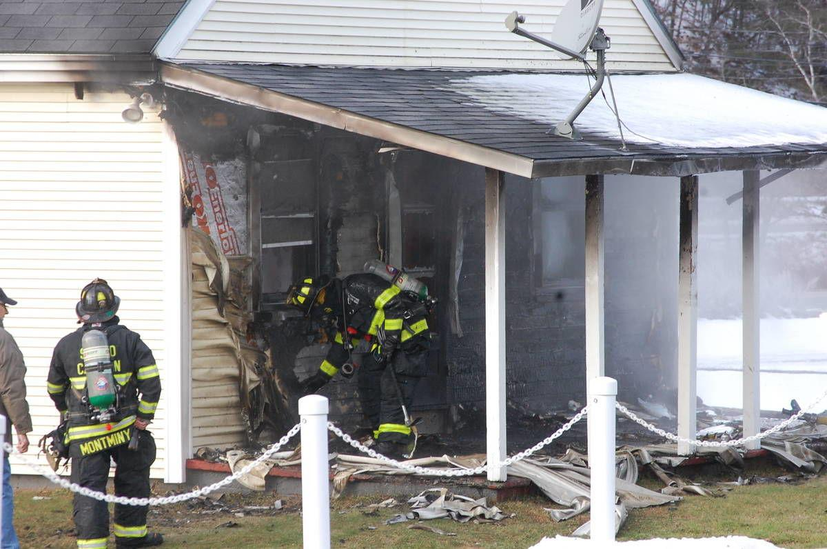 St. Johnsbury Center Porch Fire Caused By Cigarette
