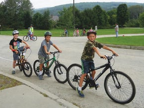 Miller's Run student learn about bike safety