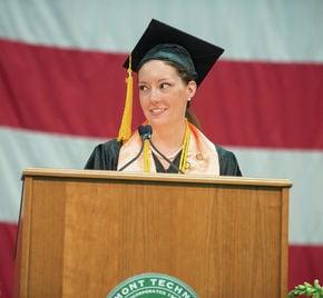 Magdalene Miller gives commencement address at VTC