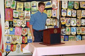 Logan LaRose advances in Rotary Speech contest
