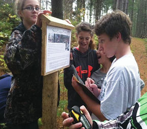 Brighton Students Participate In Geocaching, GPS And Hands-on Geography At Northwoods Stewardship Center