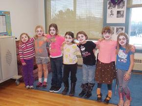 Newark afterschool children study Marcel Marceau