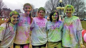 Upward Bound Students Volunteer At HOPE's Color Run