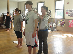 Physical Therapist helps out with Lyndon Institute dance department