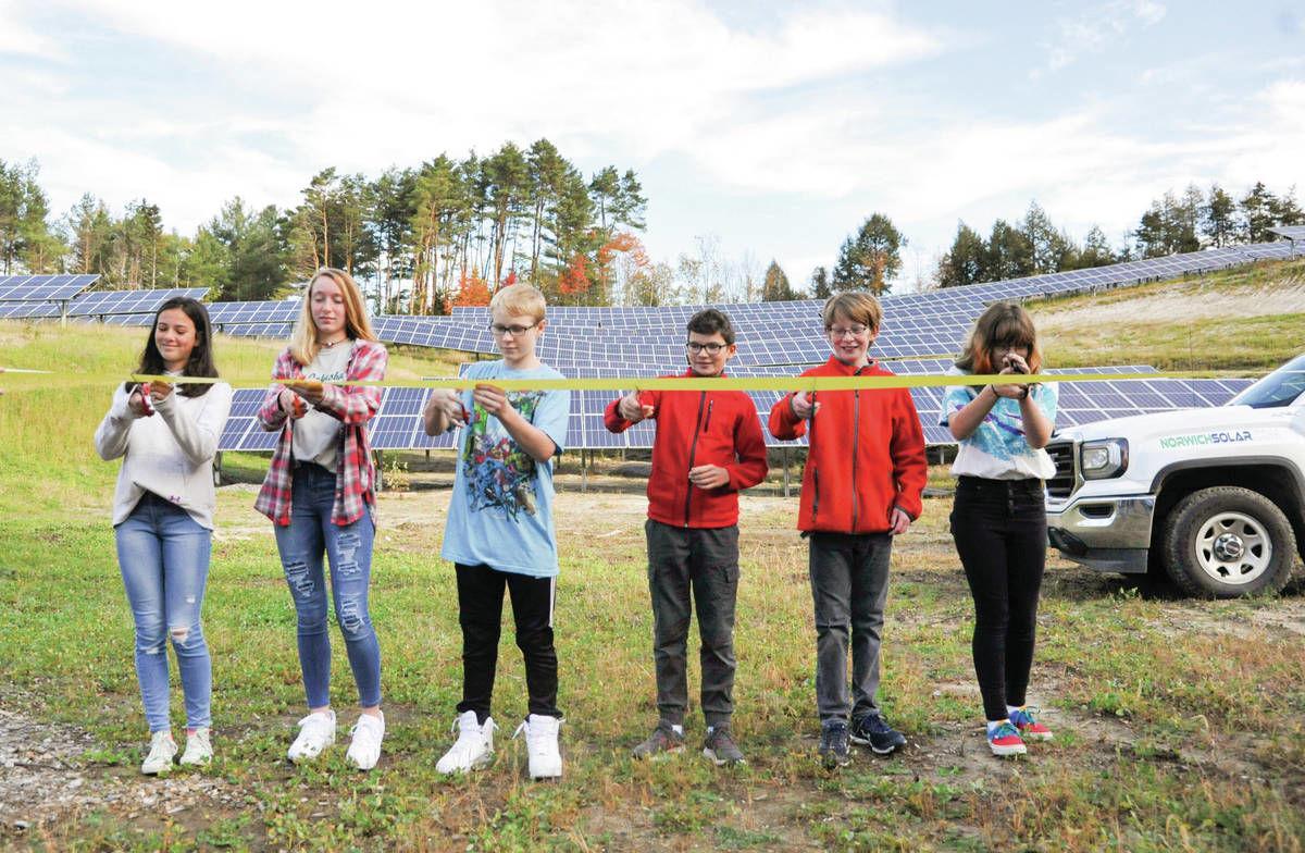 St. Johnsbury Students Cut Ribbon At Solar Power Project