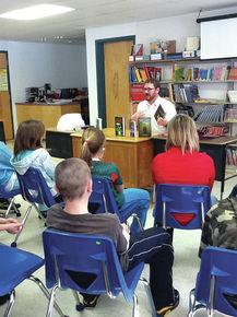 Author Daivd Stahler Jr. visits Gilman Middle School