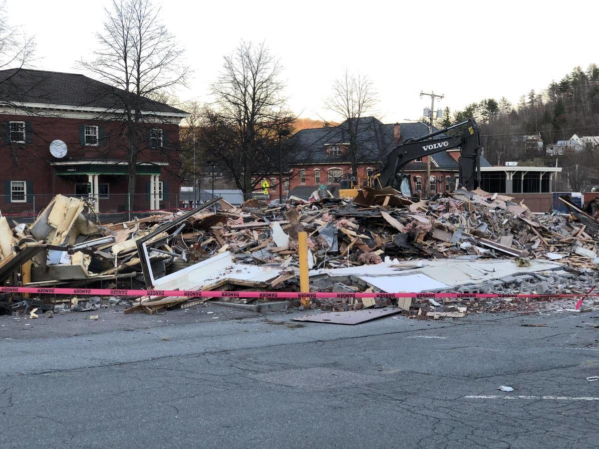 Railroad Street McDonald's Building Torn Down