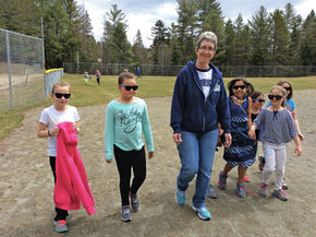Burke Town School students and staff Walk at Lunch