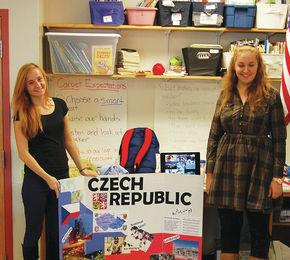 Lyndon Institute Czech students visit Barnet School