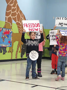 Newark school celebrates MLK Day