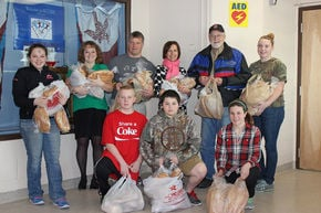 North Country Union Jr. High students donate bread to Food Shelf