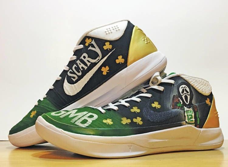 Sneaky Good Profile senior Robieu0027s custom shoes step into NBA playoff limelight & Sneaky Good: Profile senior Robieu0027s custom shoes step into NBA ...