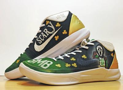 b1a513a01c15 Sneaky Good  Profile senior Robie s custom shoes step into NBA playoff  limelight