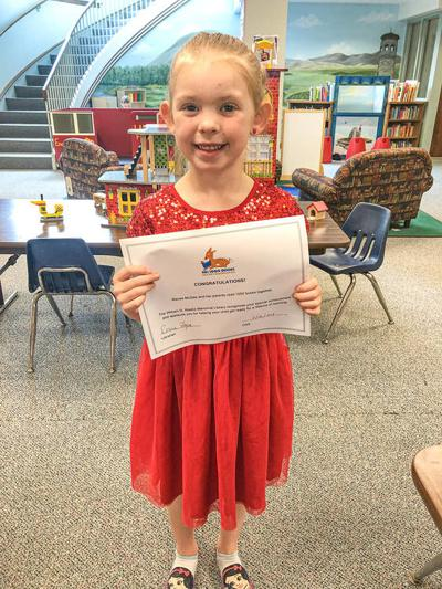 Macee McGee just completed the 1000 Books Before Kindergarten at the Weeks Memorial Library