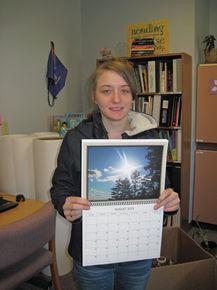 Groveton High School senior Julia Prince selling calendars featuring her photographs