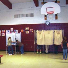 Voting Day Held At Brighton Elementary School