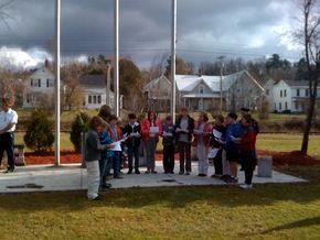 Thaddeus Stevens School Lays Wreath At Veteran's Memorial