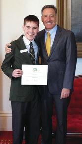 James Tedesco congratulated for being Legislative Page