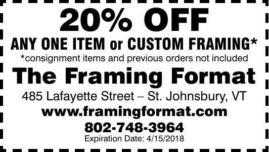 The Framing Format | Coupons | caledonianrecord.com