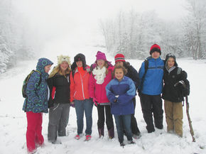 Miller's Run students enjoy final hike of the season.