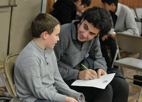 Burke Town students work with LI students