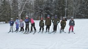 Caledonia Christian students skiing at Burke Mountain