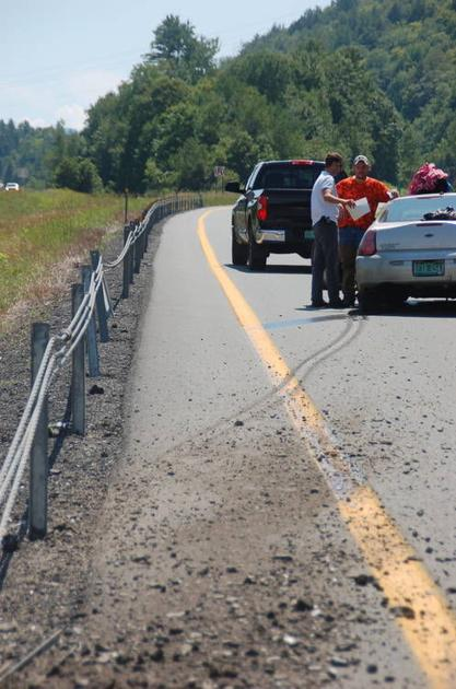 Tire Blow Out Causes I-91 Accident in Barnet | Local News
