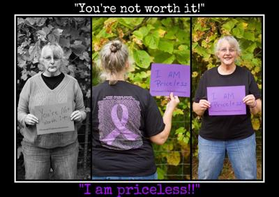 Michele Avery Stands Against Domestic Violence