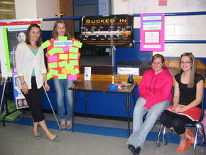 Lake Region's Community Service Club Holds Tobacco Prevention Event
