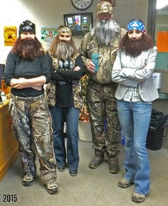 Office staff at Lisbon Regional dress up for winter carnival