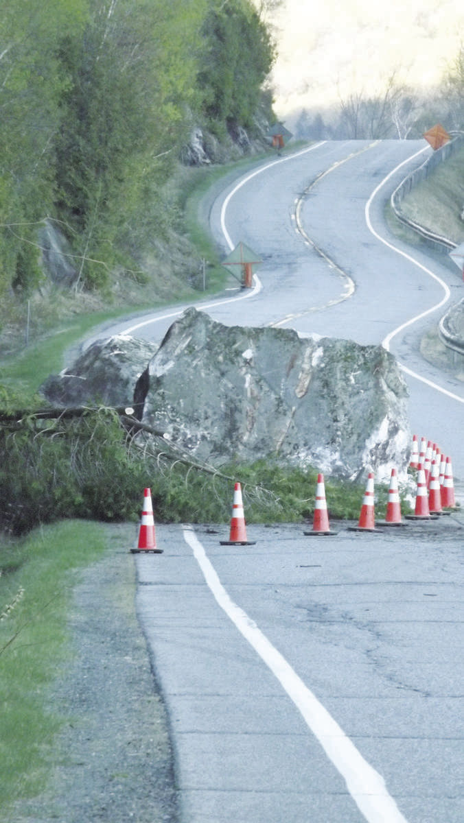 Route 5A In Westmore To Close For Rock Stabilization