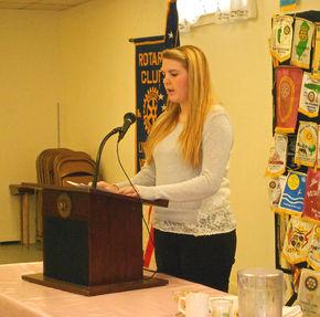 Newport Rotary Speech Contest winnner