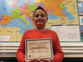 Joe DePalma Wins Daisy Bronson Middle School Geographic Bee