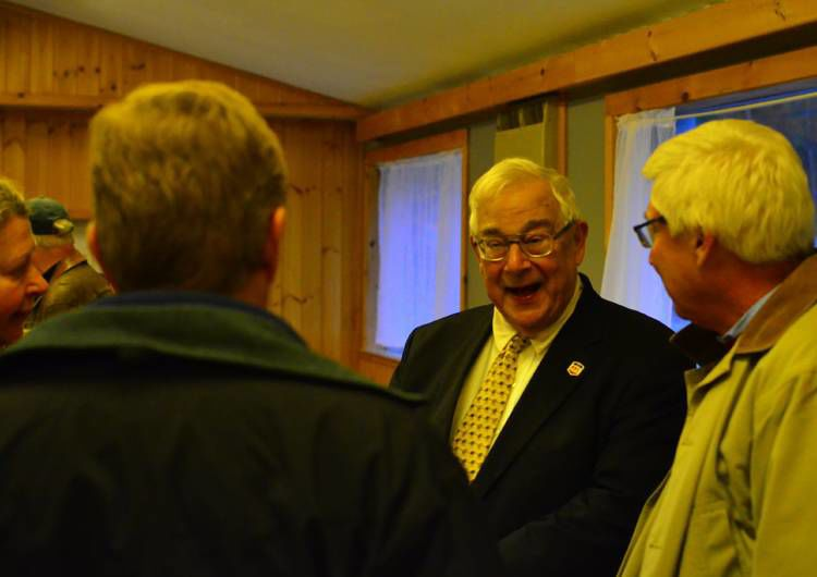 North Country Senator Race In Littleton:N.H. Senate Leaders, Residents Rally For Woodburn Challenger
