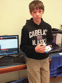 Lyndon Town School students learn how to program and design on new printer.