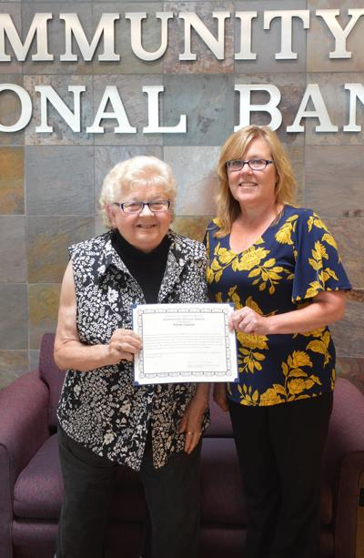 Community National Bank Honors Local Woman For Community Service