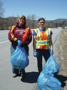 White Mtn. School students do highway cleanup