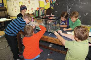 Stevens School students build a barometer