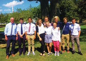 Stuttgart Exchange Students Attend SJA