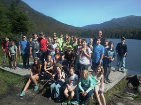 Gilman students hike around Lonesome Lake
