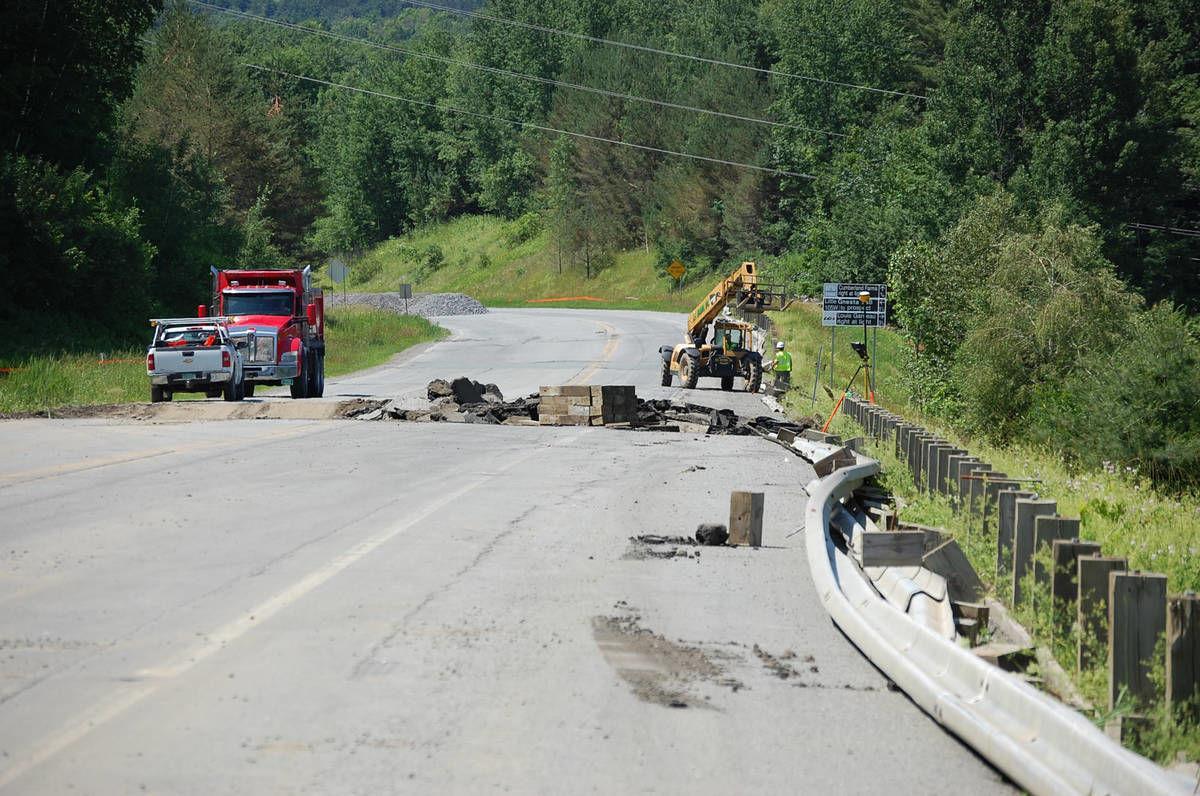 Newport I-91 Access Road Closed