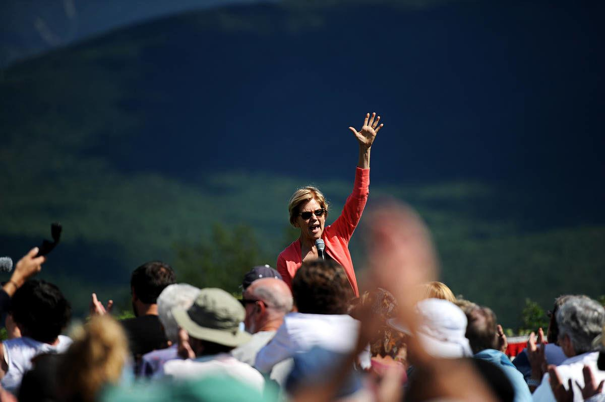 North Country Presidential Campaign Stop:Warren, Surging In Polls, Draws Big Crowd In Franconia