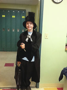 Abraham Lincoln shows up for Character Day at Gilman Middle School