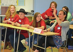 Riversiders Compete Against High School Latin Students