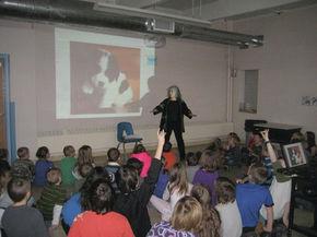 Author Leda Schubert visits Lunenburg schools