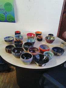 East Burke School students create pottery through special lessons